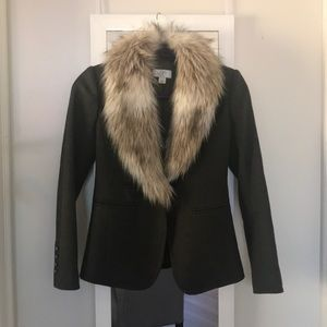 LOFT Olive Coat Blazer Jacket